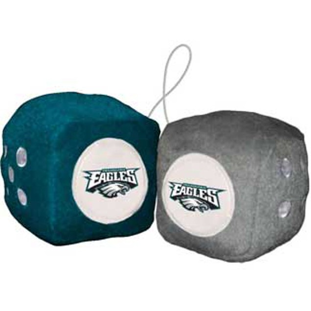 Philadelphia Eagles Fuzzy Dice NFL Football Team Logo Plush Car Truck Auto