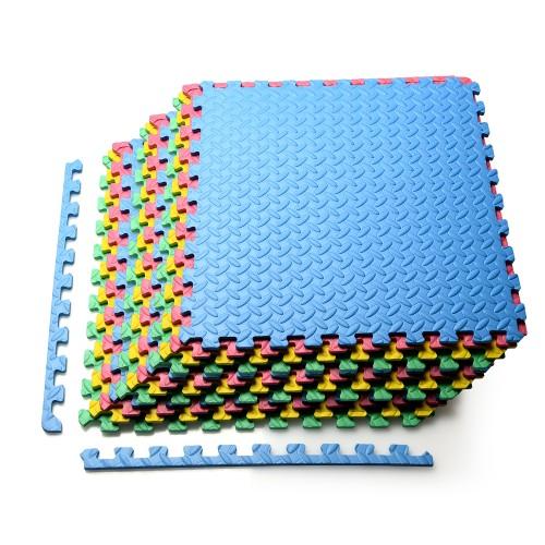 Costway 12PCS Kid's Puzzle Exercise Play Mat w/EVA Foam Interlocking Tiles