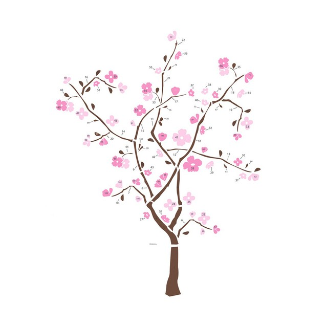 Roommates Baby Room Wall Decorative Spring Blossom Tree Giant Wall Decal