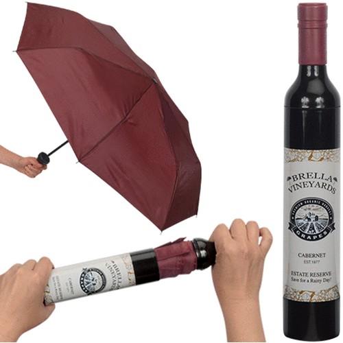 Burgundy Brella Vineyards Wine Bottle Umbrella