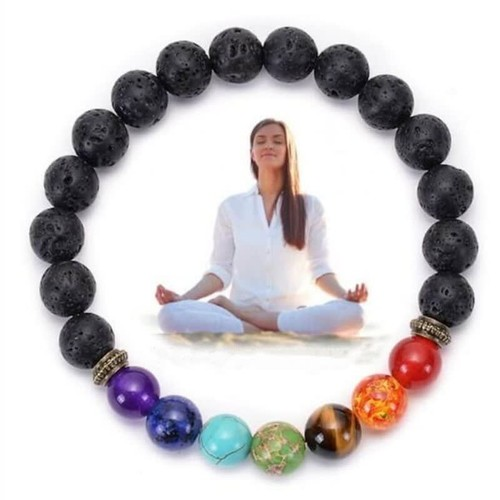 7 Chakra Lava Stone Diffuser Bracelet | B1G1