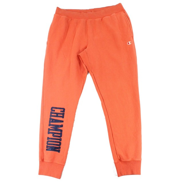 Champion Men's Vintage Wash Joggers Orange Size Small