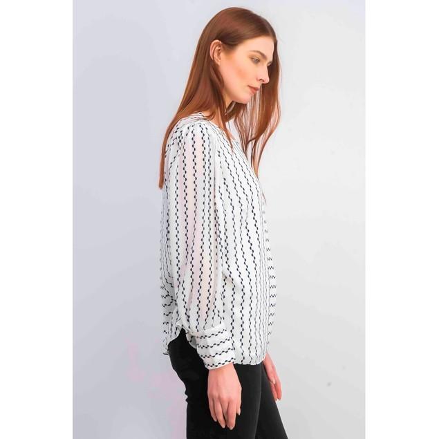 Alfani Women's Printed Puff-Sleeve Blouse White Size XX-Large