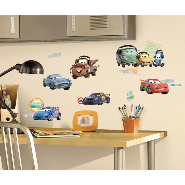 Roommates Nursery Baby Room Wall Decorative Disney Cars Wall Decals