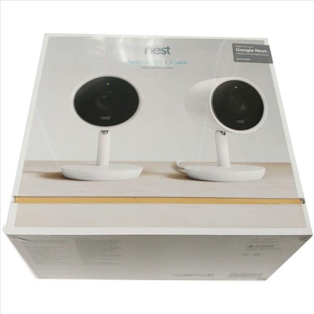 Google Nest Cam NC3200US Indoor Night Vision Security Camera 2 Pack - White