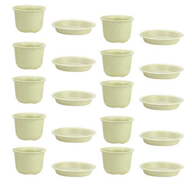 Plastic Plant Pots - Set of 10 | Pukkr Large