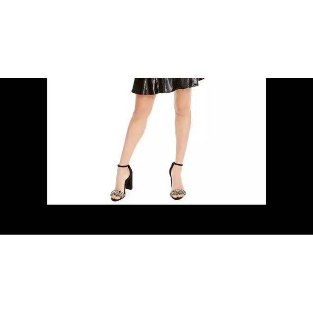 LEYDEN Women's Shimmery Ruffle Hem Dress Black Size Small