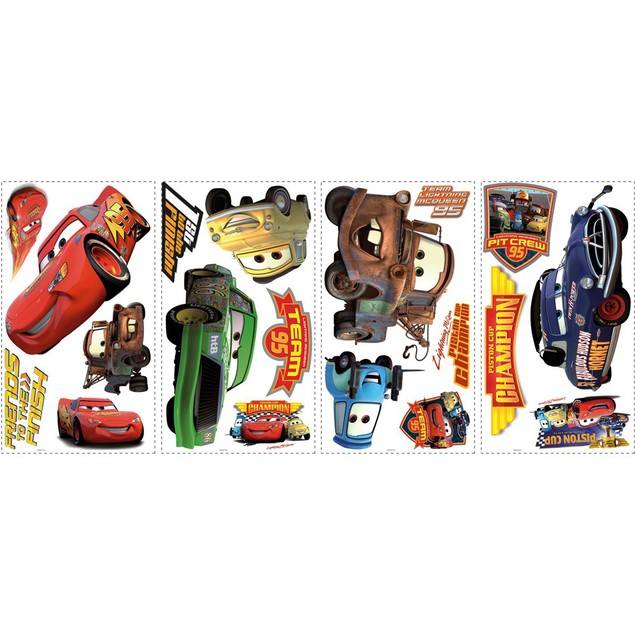 Roommates Wall Decorative Disney Cars Piston Cup Champions Wall Decals