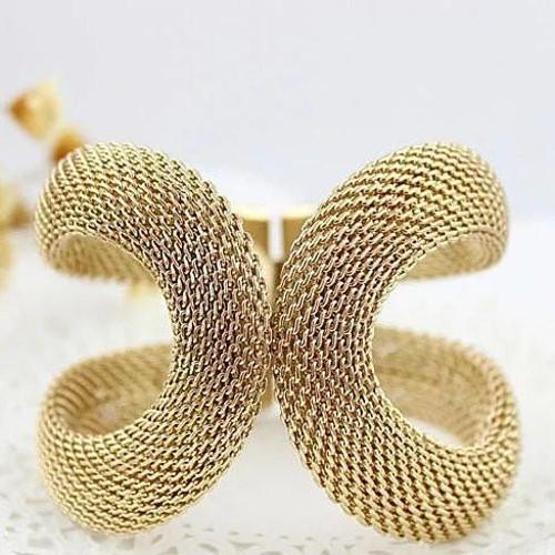 Glamsham - The Vintage Infinity Loop Mesh Bracelet