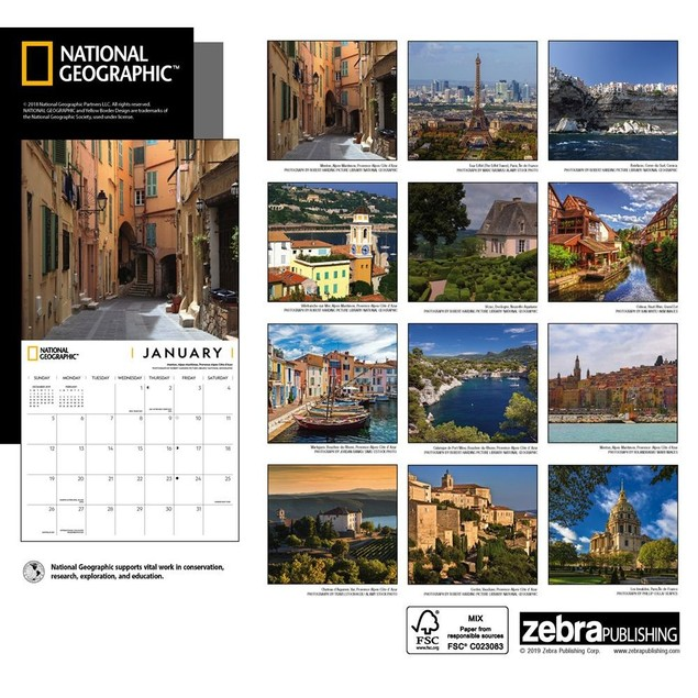 France NG Wall Calendar, France by Calendars