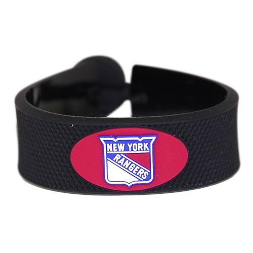 New York Rangers Classic Hockey Bracelet NHL NYR Rubber Puck