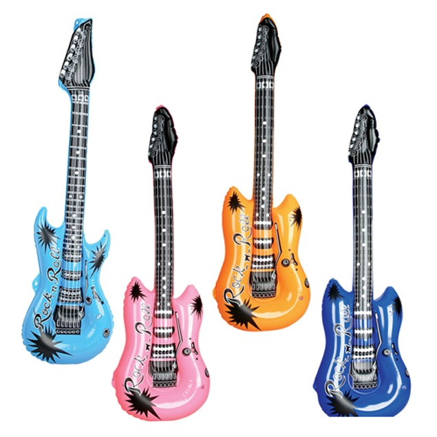Inflatable Guitar Blow Up Costume Prop Rock And Roll Prop Party Assorted