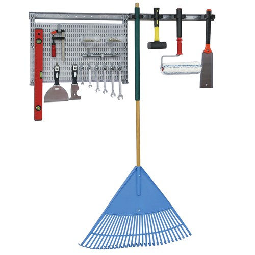 23Pc. Garage Organizer Wall Storage System with Pegboard, Hooks and Hangers