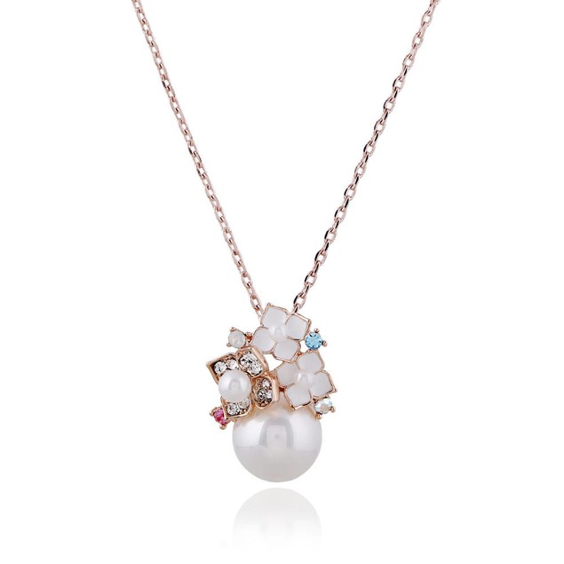 Round Pearl Necklace & Earring Set