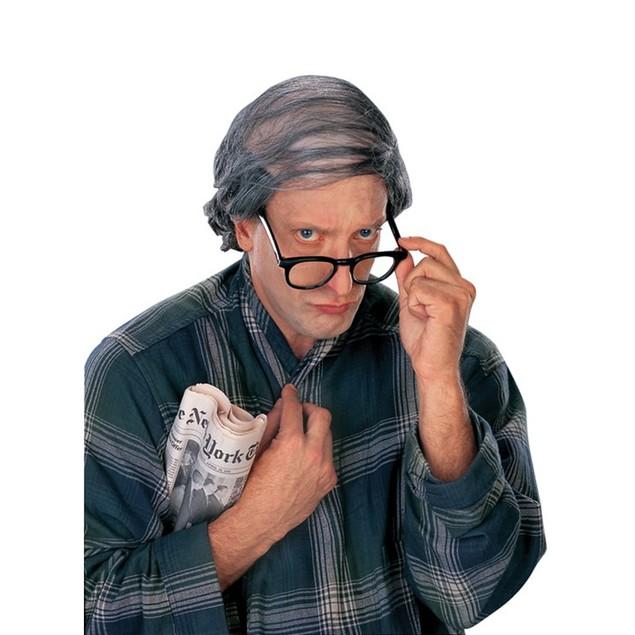 Comb Over Wig Bald Combover Bald Grey Old Man Grandpa Mens Adult