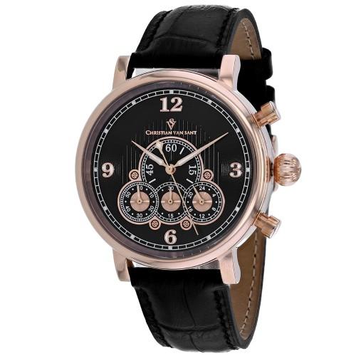 Christian Van Sant Men's Black Dial Watch - CV0716