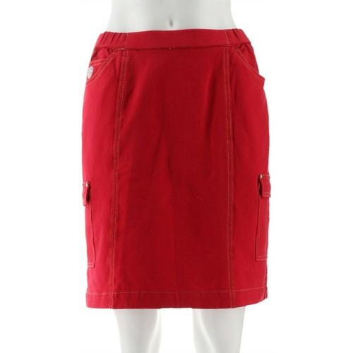 Quacker Factory Pull-on Rhinestonec Women's Skort, X-Small, Lipstick Red
