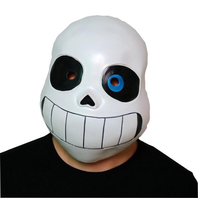 Sans Skeleton Black And BLUE Eyes Mask