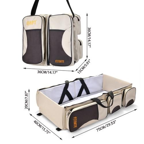 Fitnate 3 in 1 Diaper Bag, Multi-function Baby Diaper Bag Diaper Tote Bags