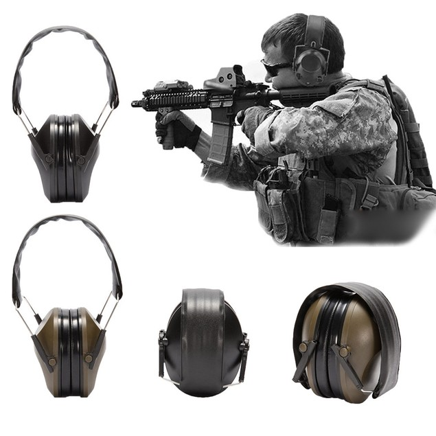Noise Canceling Electronic Ear Muffs Protection Hunting Sport Tactical