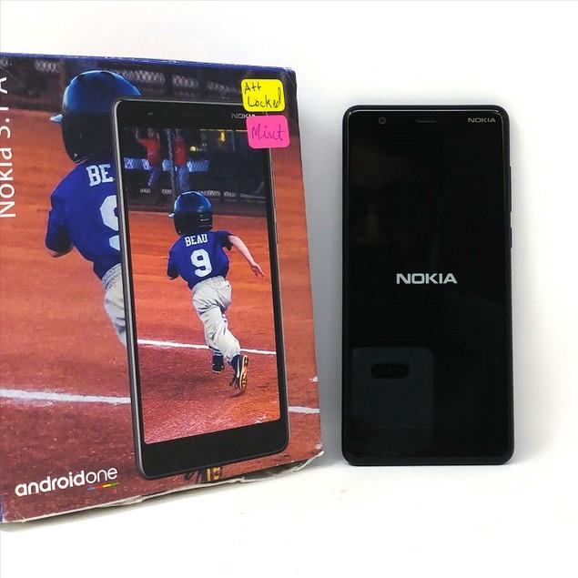 MINT Nokia 3.1 A 32GB TA-1140 AT&T 2GB RAM Smartphone - Black