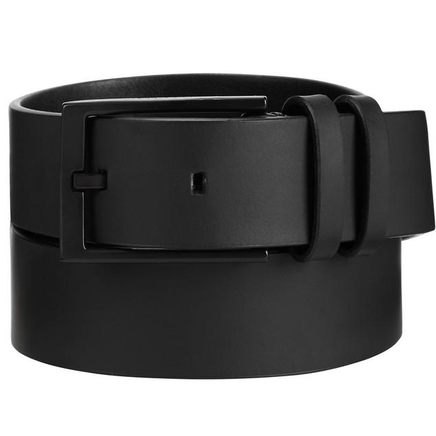 Calvin Klein Men's Leather Belt Black Size 44 Regular