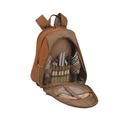 Picnic Plus Fairmont 2 Person Picnic Backpack Brown