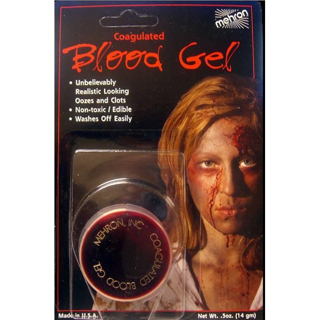 Coagulated Blood Gel - .5 fl oz. Carded Mehron Makeup Halloween Stage Pro