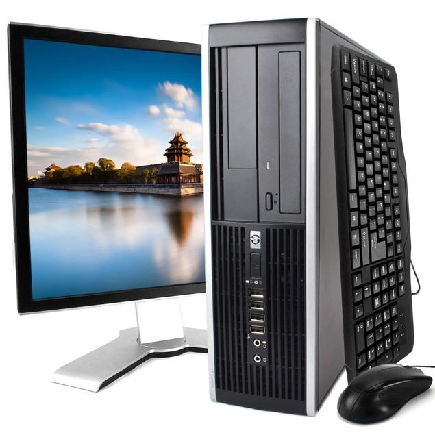 "HP 8200 Desktop Intel i5 8GB 500GB HDD Windows 10 Professional 19"" Monitor"
