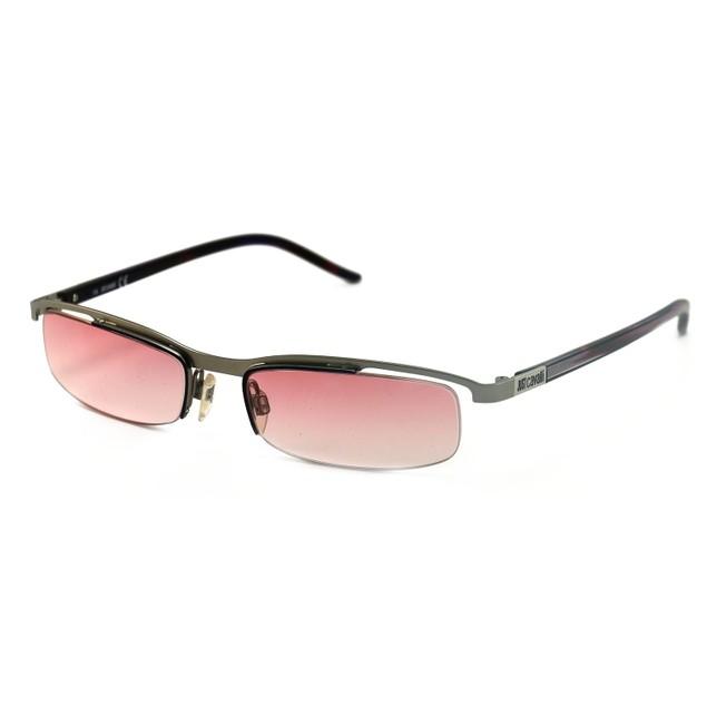 Just Cavalli Women Sunglasses Silver/Pink 52 17 135 Semi-Rimless Oval