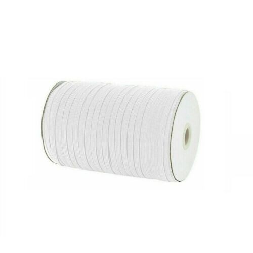 50 Yard 1/4 Inch 6mm Wide Elastic String Cord Bands Rope for Sewing Crafts DIY Mask (1/4 Inch 50 Yards) (White)