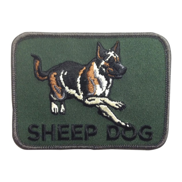 Sheep Dog Iron On Patch