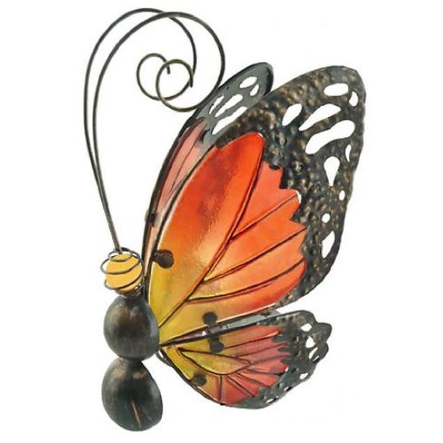 Garden Party Realistic Flying Wobble Fluttering Solar Powered Butterfly