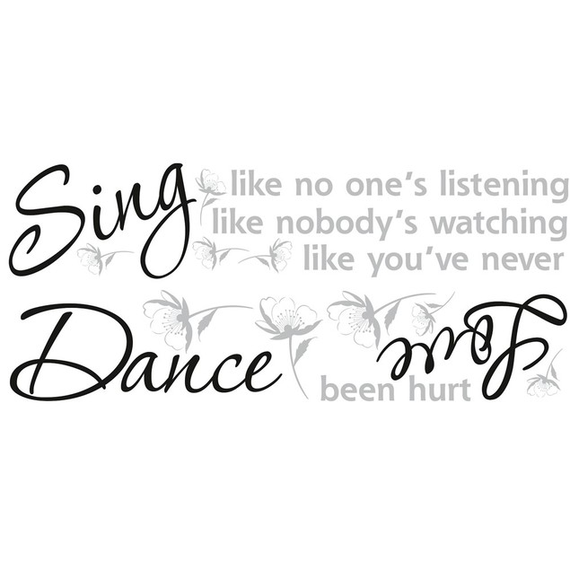 Roommates Baby Room Wall Decorative Sing, Dance, Love Quote Wall Decals