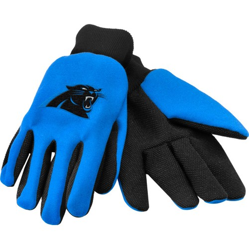 Carolina Panthers Work Gloves Embroidered Color Logo of your Favorite Team