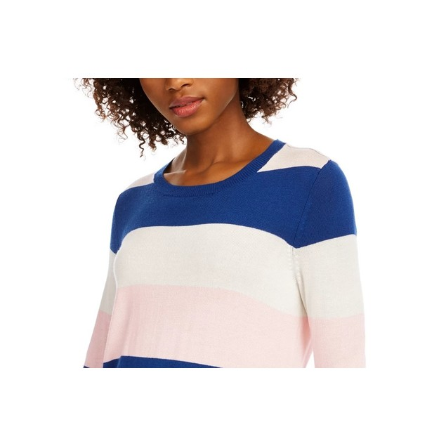 Maison Jules Women's Striped Sweater Med Blue Size X-Large
