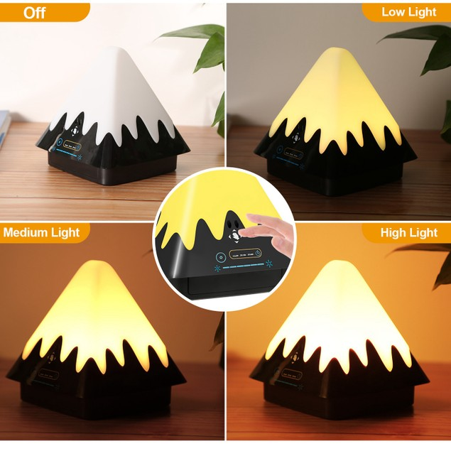 Touch Control Night Light 8-Color Change 6 Level Dimmable Light Brightness Table Lamp