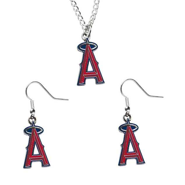 LOS Angeles Angels NCAA Necklace And Dangle Earring Set Charm