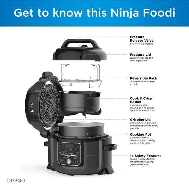 Ninja Foodi 6.5-Quart TenderCrisp 8-in-1 Pressure Cooker & Air Fryer