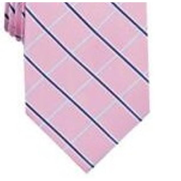 Club Room Men's Classic Grid Tie Pink Size Regular