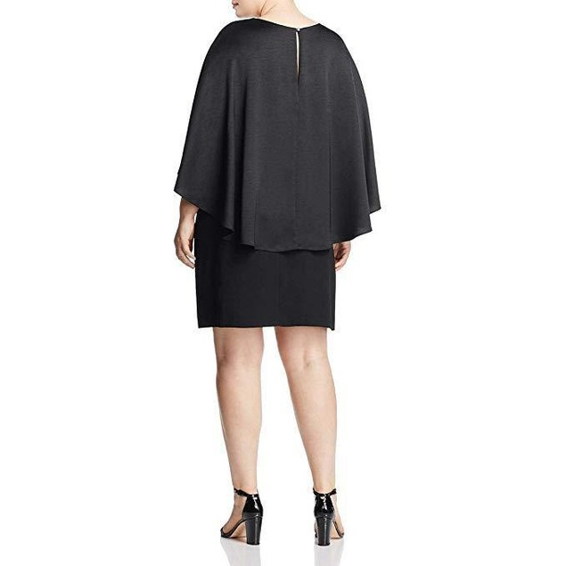 Vince Camuto Specialty Size Womens Plus Size Cape Overlay SZ 1X DRESS