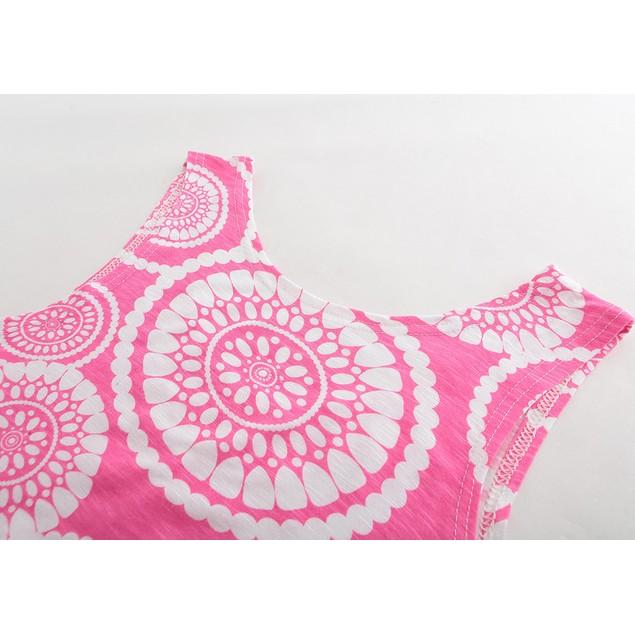 Women Casual Print Pullover Sleeveless Tassels Tank Crop Shirt Tops Blouse
