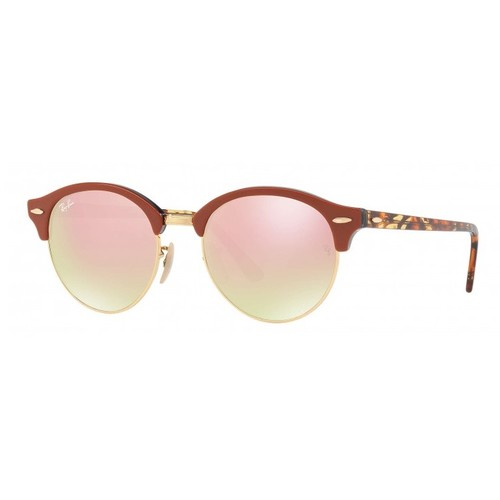 Ray-Ban Clubround Brown Sunglasses RB4246-12207O-51
