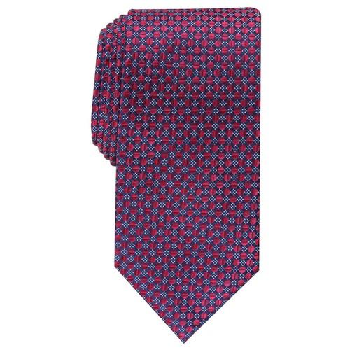 Perry Ellis Men's Dexter Neat Tie Red One size