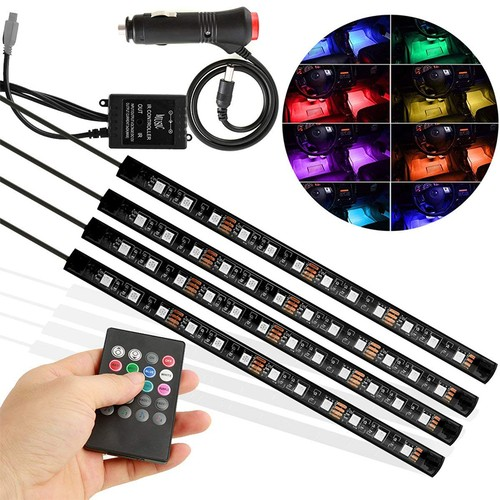 Car LED Strip Lights with Remote