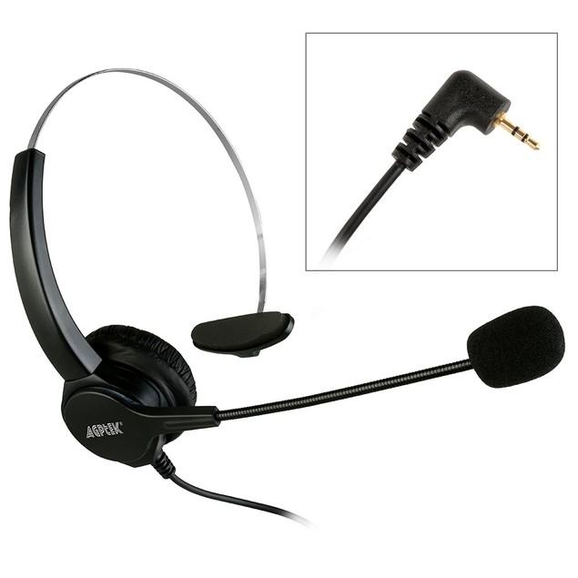 Agptek Headset for Desk Phones, 6FT Hands-Free Noise Cancelling Monaural
