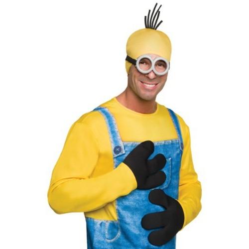 Minion Gloves Despicable Me Movie Hands Mittens 3 Fingers Black Minions 3D