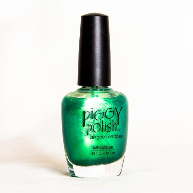 Piggy Polish Lily's Pad, Deep Green Shimmer, .46 fl oz