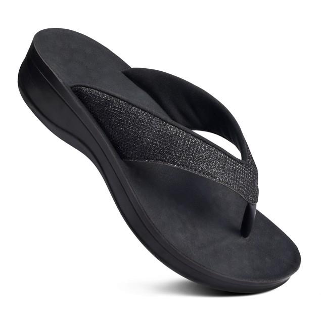 AEROTHOTIC Sparkle Women's Comfortable Platform Sandal