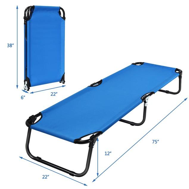 Costway Outdoor Portable Folding Cot